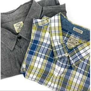 J. Crew Long Sleeve Work Plaid Shirts Sz XL